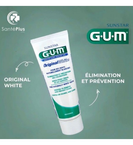GUM DENTIFRICE ORIGINAL WHITE 75ML