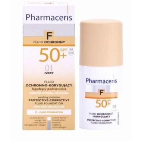 pharmaceris f-fluid foundation fond de teint protecteur couvrance spf